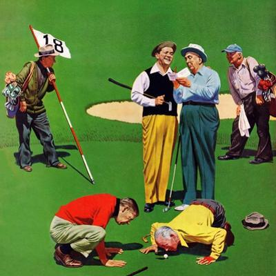 """""""Eighteenth Hole"""", August 6, 1955 by John Falter"""