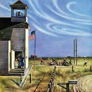 """Endl of Recess"", October 17, 1953 by John Falter"