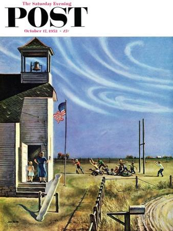 """Endl of Recess"" Saturday Evening Post Cover, October 17, 1953 by John Falter"