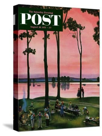 """Evening Picnic"" Saturday Evening Post Cover, August 18, 1951"