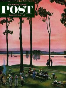 """""""Evening Picnic"""" Saturday Evening Post Cover, August 18, 1951 by John Falter"""
