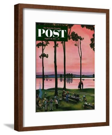 """""""Evening Picnic"""" Saturday Evening Post Cover, August 18, 1951"""