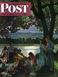 """Evening Picnic,"" Saturday Evening Post Cover, June 4, 1949 by John Falter"
