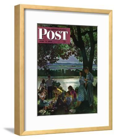 """Evening Picnic,"" Saturday Evening Post Cover, June 4, 1949"