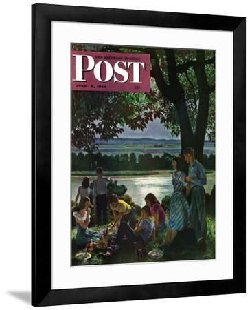 """Evening Picnic,"" Saturday Evening Post Cover, June 4, 1949 by John Falter"