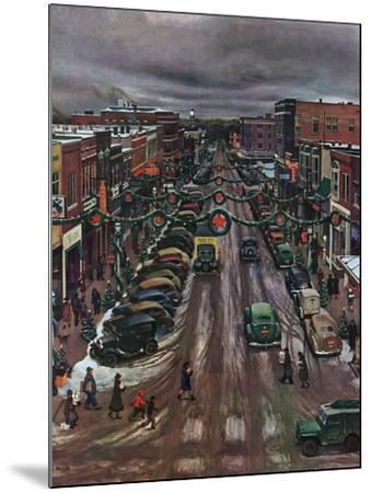 """""""Falls City, Nebraska at Christmas,"""" December 21, 1946 by John Falter"""
