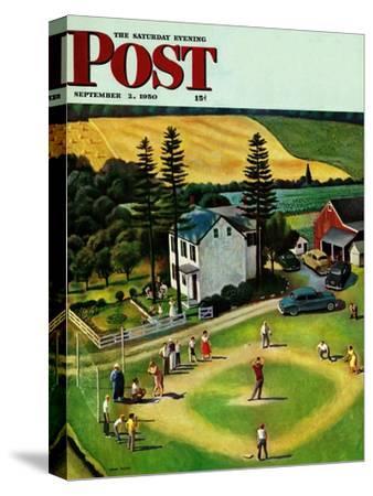 """Family Baseball"" Saturday Evening Post Cover, September 2, 1950"