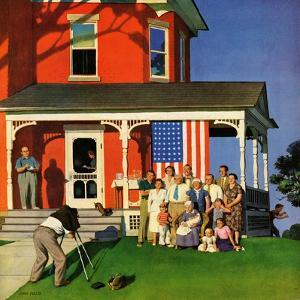 """Family Portrait on the Fourth"", July 5, 1952 by John Falter"