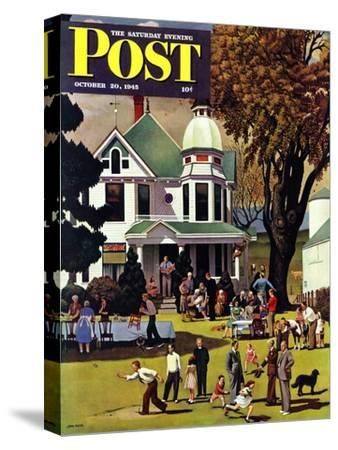 """Family Reunion,"" Saturday Evening Post Cover, October 20, 1945"