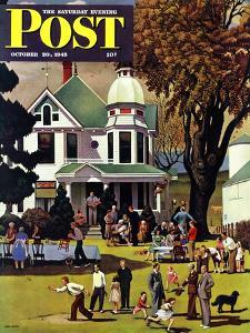 """""""Family Reunion,"""" Saturday Evening Post Cover, October 20, 1945 by John Falter"""