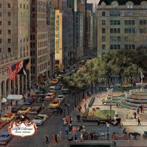 """Fifth Avenue,"" March 19, 1960 by John Falter"