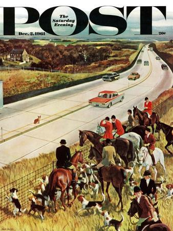"""""""Foxhunters Outfoxed,"""" Saturday Evening Post Cover, December 2, 1961 by John Falter"""