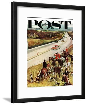 """""""Foxhunters Outfoxed,"""" Saturday Evening Post Cover, December 2, 1961"""