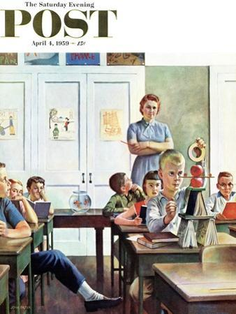 """""""Future Engineer"""" Saturday Evening Post Cover, April 4, 1959 by John Falter"""