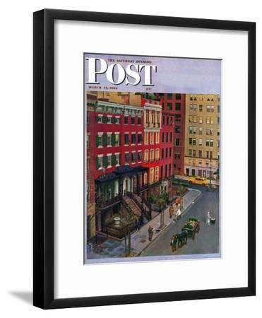"""Gramercy Park,"" Saturday Evening Post Cover, March 25, 1944"