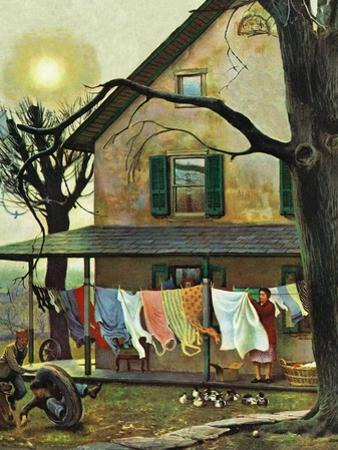 """Hanging Clothes Out to Dry,"" April 7, 1945"