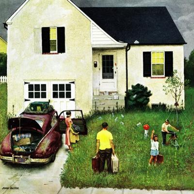 """""""Home from Vacation"""", August 23, 1952 by John Falter"""