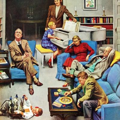 """Home Recital"", March 3, 1951 by John Falter"