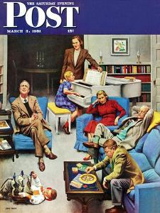 """""""Home Recital"""" Saturday Evening Post Cover, March 3, 1951 by John Falter"""