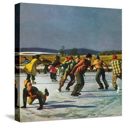 """Ice Skating on Pond"", January 26, 1952"