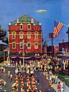 """Independence Parade,"" July 7, 1945 by John Falter"