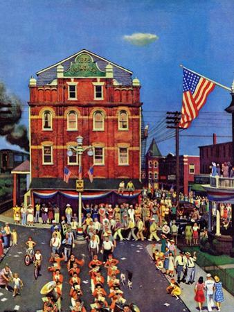 """Independence Parade,"" July 7, 1945 by John Falter"