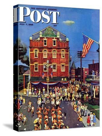 """Independence Parade,"" Saturday Evening Post Cover, July 7, 1945"