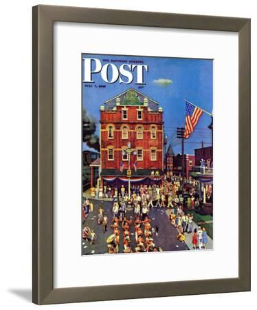 """""""Independence Parade,"""" Saturday Evening Post Cover, July 7, 1945"""