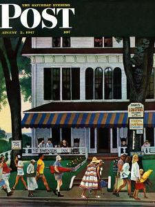 """Inn in Ogunquit,"" Saturday Evening Post Cover, August 2, 1947 by John Falter"
