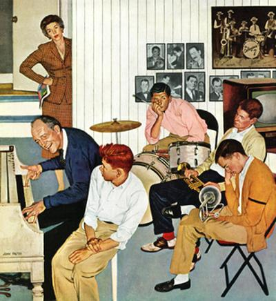 """""""Jammin with Dad"""" December 1, 1956 by John Falter"""