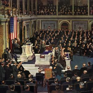 """""""Joint Session of Congress"""", January 7, 1950 by John Falter"""