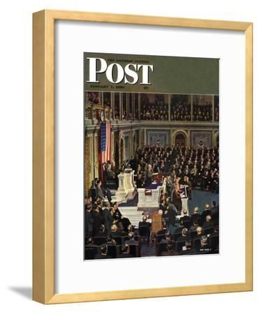 """Joint Session of Congress,"" Saturday Evening Post Cover, January 7, 1950"