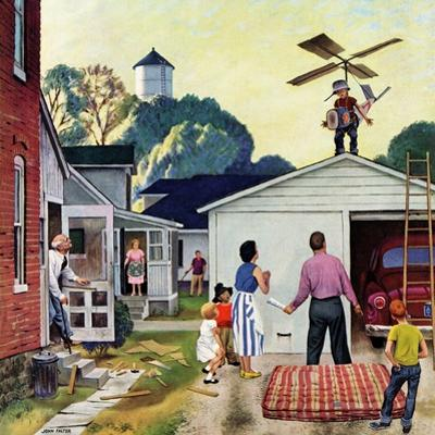 """""""Learning to Fly"""", June 20, 1953 by John Falter"""