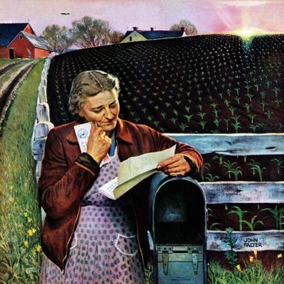"""""""Letter from Overseas,"""" May 8, 1943 by John Falter"""