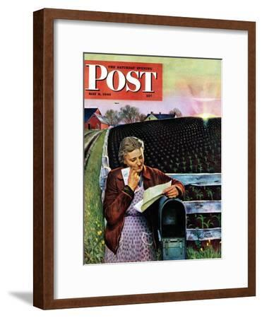 """Letter from Overseas,"" Saturday Evening Post Cover, May 8, 1943"