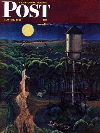 """Lovers' Lane, Falls City, Nebraska,"" Saturday Evening Post Cover, May 24, 1947 by John Falter"
