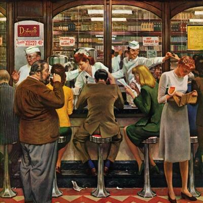 """""""Lunch Counter,"""" October 12, 1946 by John Falter"""