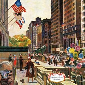 """Michigan Avenue, Chicago,"" October 15, 1960 by John Falter"