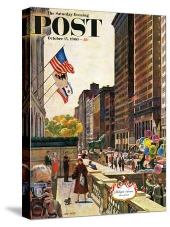 """Michigan Avenue, Chicago,"" Saturday Evening Post Cover, October 15, 1960"