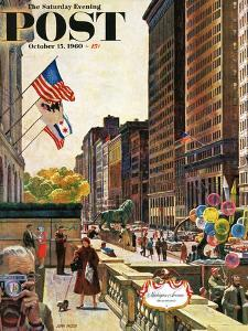 """Michigan Avenue, Chicago,"" Saturday Evening Post Cover, October 15, 1960 by John Falter"