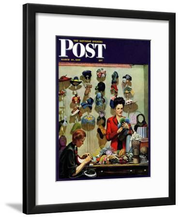 """Millinery Shop,"" Saturday Evening Post Cover, March 10, 1945"