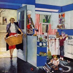 """Mother's Little Helpers"", April 18, 1953 by John Falter"