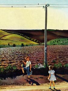 """""""Muddy Walk Home"""", May 13, 1950 by John Falter"""