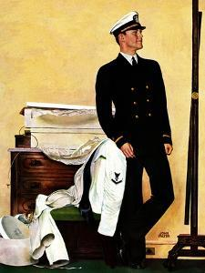 """New Naval Officer,"" July 10, 1943 by John Falter"