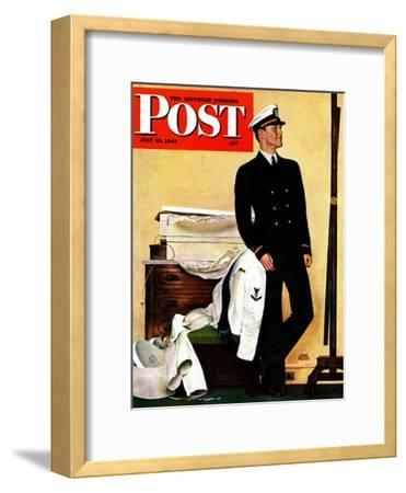 """New Naval Officer,"" Saturday Evening Post Cover, July 10, 1943"