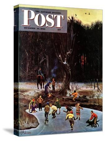 """Night Skating,"" Saturday Evening Post Cover, December 16, 1944"