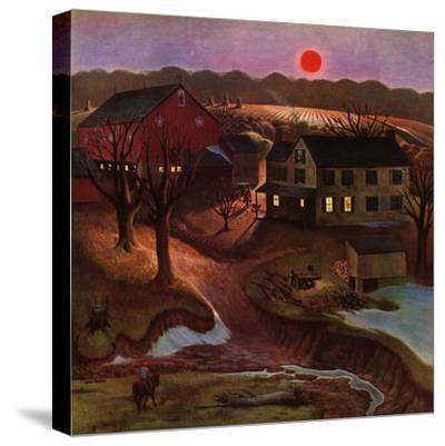 """Nighttime Farm Landscape,"" January 12, 1946"