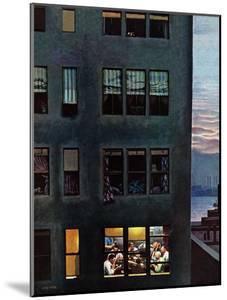 """Office Poker Party,"" August 18, 1945 by John Falter"