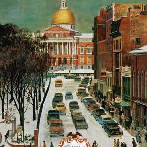 """Park Street, Boston,"" January 7, 1961 by John Falter"
