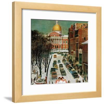 """Park Street, Boston,"" January 7, 1961"